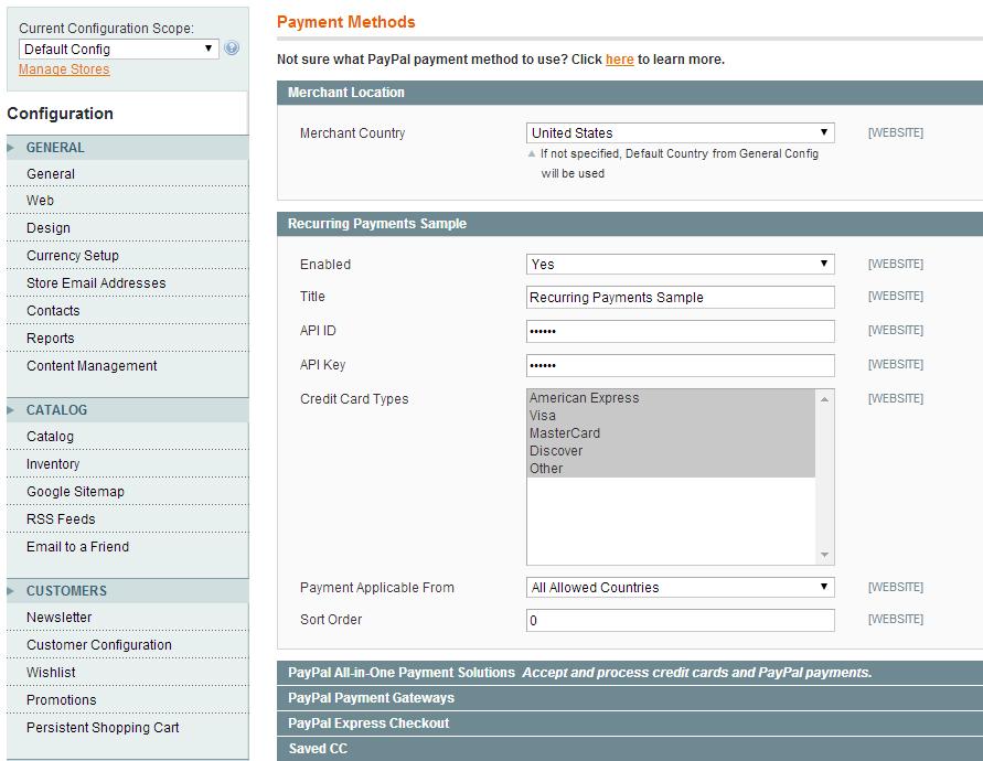 ModulesGarden Magento - Configuration