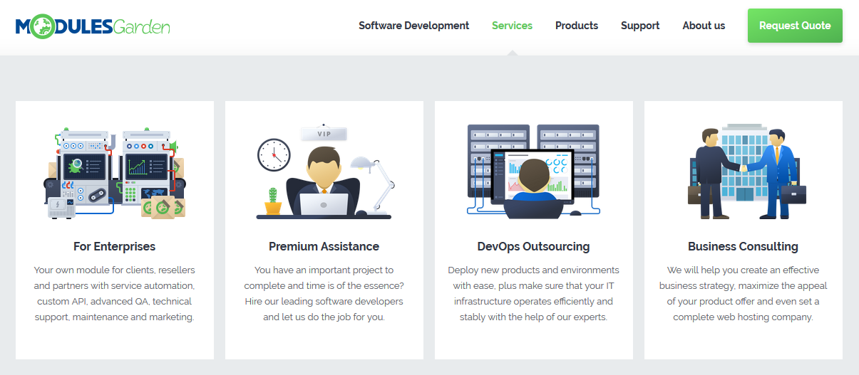 ModulesGarden Services - For Enterprises, Premium Assistance, DevOps Outsourcing, Business Consulting