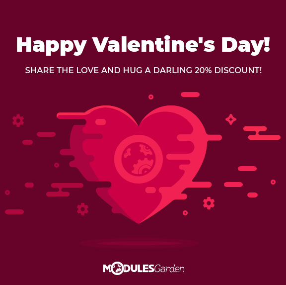 Valentine's Day Promotion 2018 at ModulesGarden