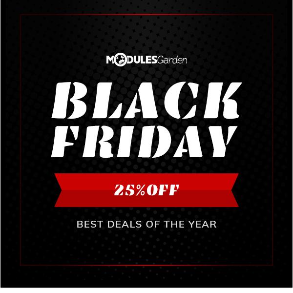 Black Friday 2018 Discount - ModulesGarden