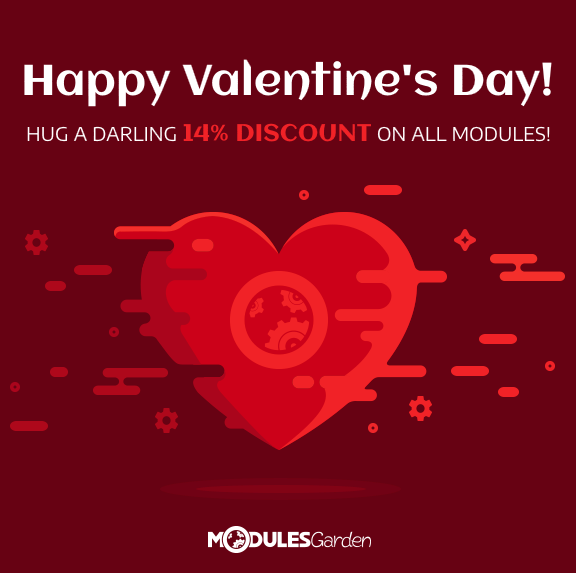 Valentine's Day Promotion 2019 at ModulesGarden