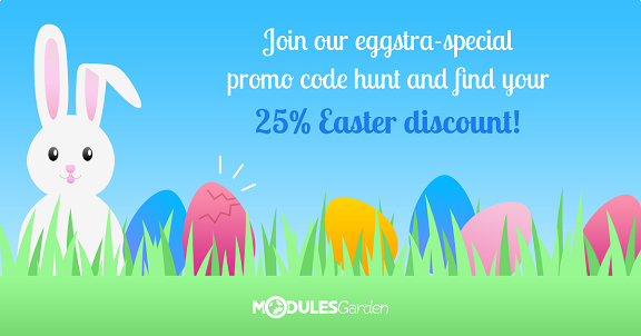 Easter Promotion with a 25% Discount at ModulesGarden