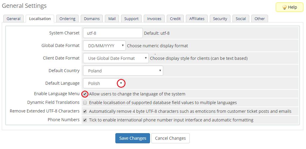 Polish Language Translation For WHMCS by ModulesGarden - Admin Area