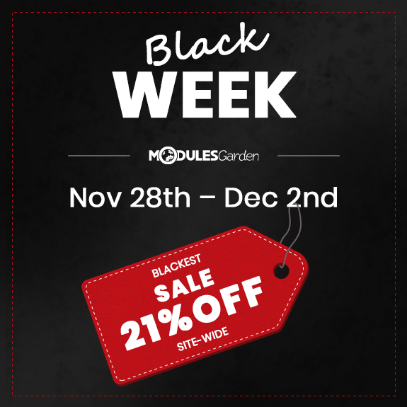 Black Week Sale 2019 - ModulesGarden