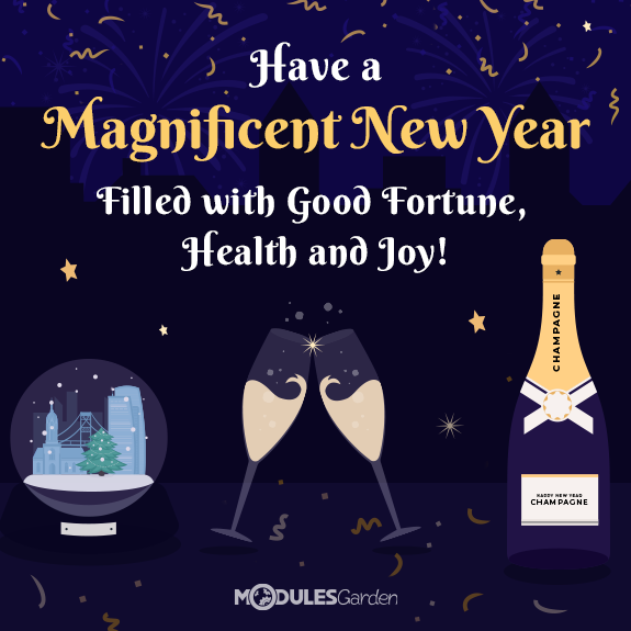 New Year wishes from the ModulesGarden team
