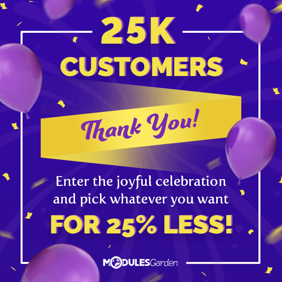 25,000 Customers Promotion at ModulesGarden
