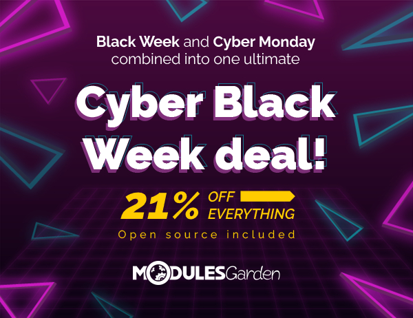 Cyber Black Week 2020 at ModulesGarden