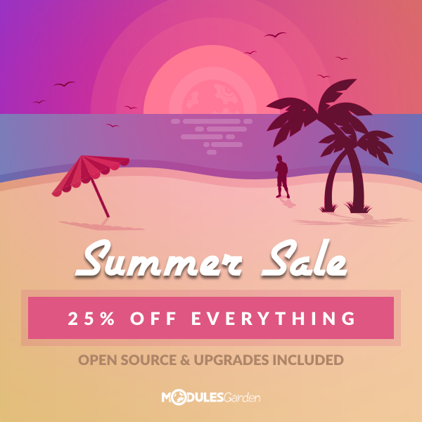 Score 25% off ALL ModulesGarden products!